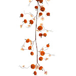 Diva at Home Set of 2 Velvet Pumpkin Garland 54 32823465