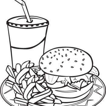 food plate coloring page at getcolorings  free