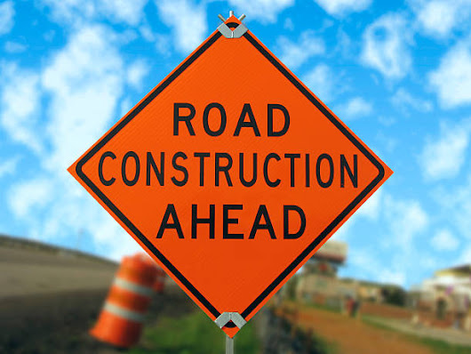 Road construction on Cloverdale Rd.