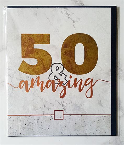 Male 50th Birthday Cards   Belly Button Designs   Age