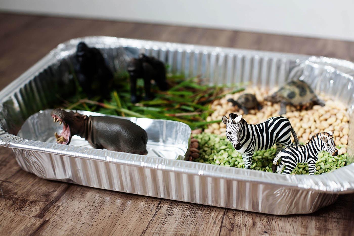 Animals of Africa sensory bin / playset