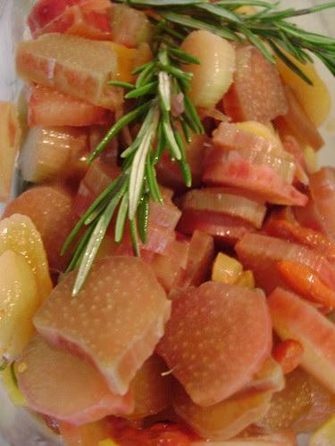 Raw Rhubarb Salad by Ayala Moriel