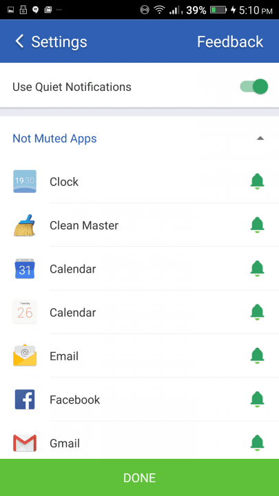 how to use clean master app guide screen quiet