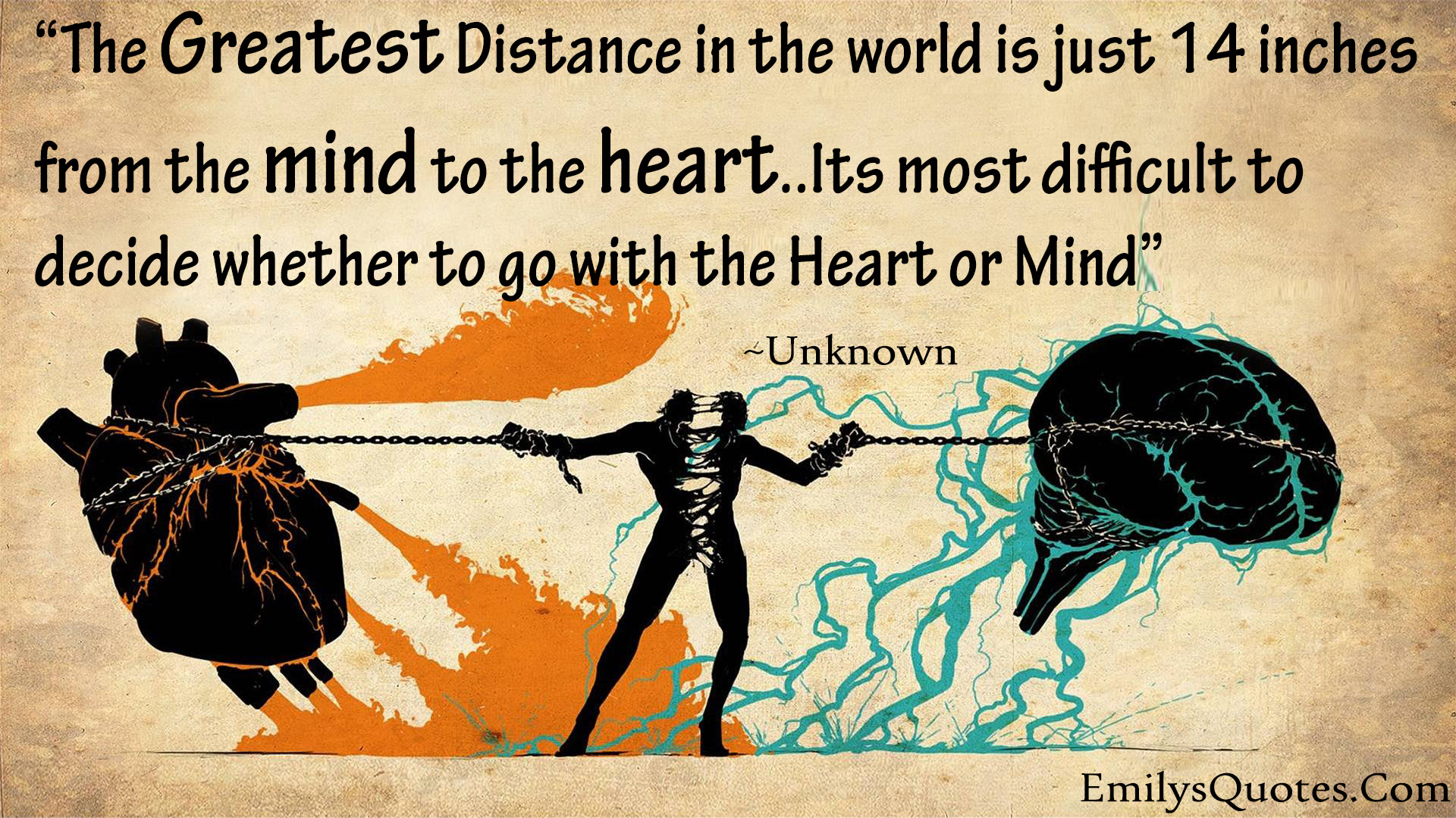 The Greatest Distance In The World Is Just 14 Inches From The Mind
