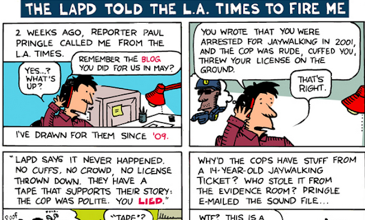 Ted Rall: The LAPD Told The LA Times To Fire Me [Cartoon Exclusive]