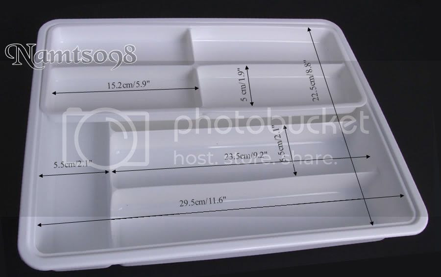 Plastic Cutlery Utensil Drawer Organizer Storage Tray Kitchen