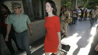 La jutge Mercedes Alaya arribant als jutjats de Sevilla en una imatge d'arxiu