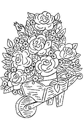 Dessin A Colorier Bouquet De Fleurs