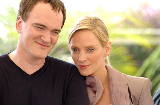 CANNES, FRANCE - MAY 16: Director Quentin Tarantino and actress Uma Thurman attend Photocall for the movie 'Kill Bill 2' at The 57th Annual Cannes Film Festival on May 16, 2004 in Cannes, France. (Photo by Pascal Le Segretain/Getty Images