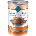 Blue Family Favorite Recipes Food for Dog, Natural, Turkey Day Feast, in Gravy - 12.5 oz
