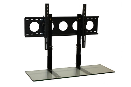 Flat screen TV wall mount with shelf