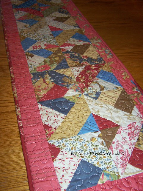 In the Meadow Red Table Runner