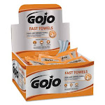 Gojo Fast Wipes Hand Cleaning Towels, Citrus, Wet Wipe Display Pack 628004 Pack of 1