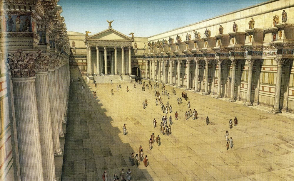 Reconstructive view of the Forum of Nerva