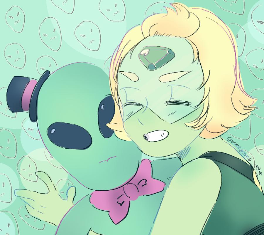 happy green aliens