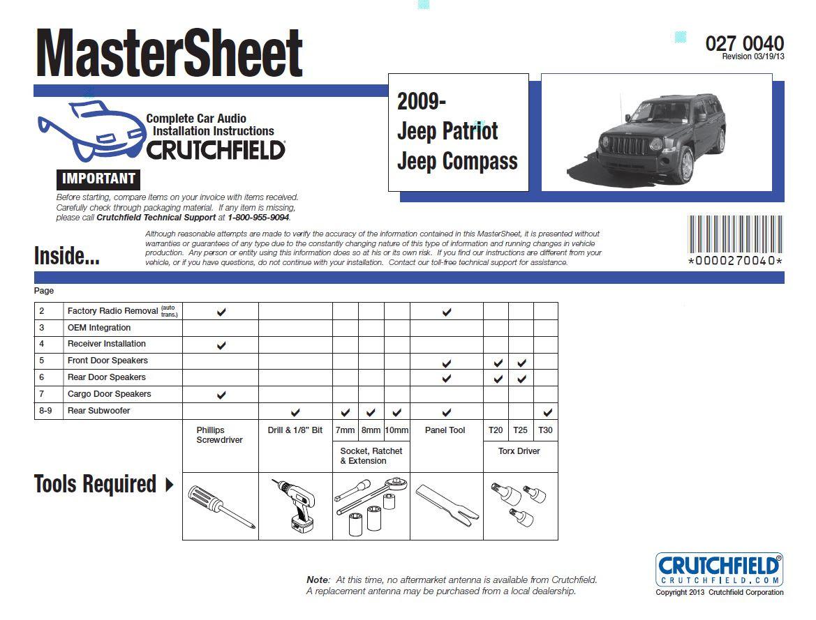 2017 Jeep Patriot Radio Wiring Diagram