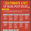 The Ultimate List of Blog Post Ideas [Infographic] - @RebeccaColeman
