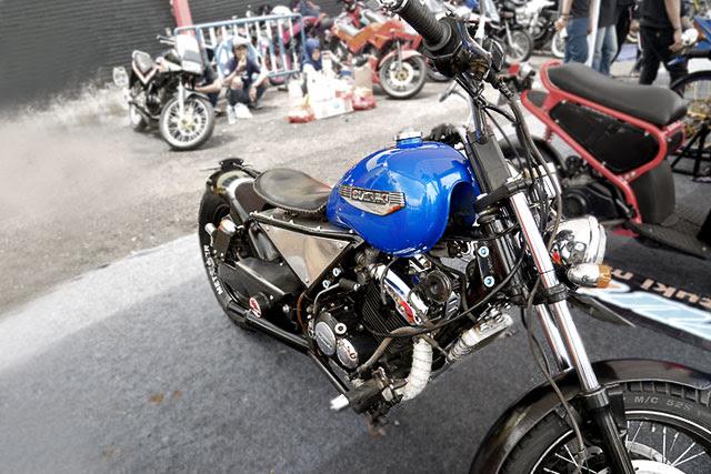 Pada program pesta Suzuki Bike Meet Jambore Nasional  Modifikasi Yang Buat Motor Tak Lekang Waktu