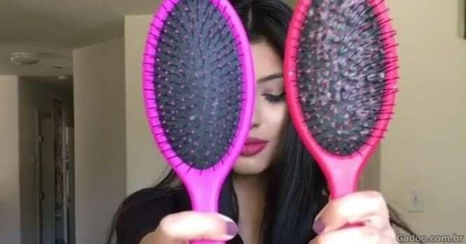 Este truque simples vai evitar que sua escova fique cheia de cabelos