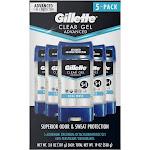 Gillette Advanced Clear Gel Antiperspirant 3.8 oz., 5-Count