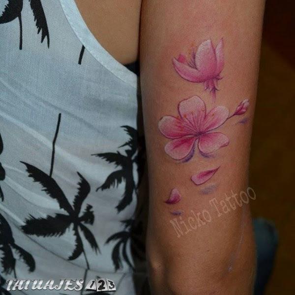 Flores De Cerezo Tatuajes 123