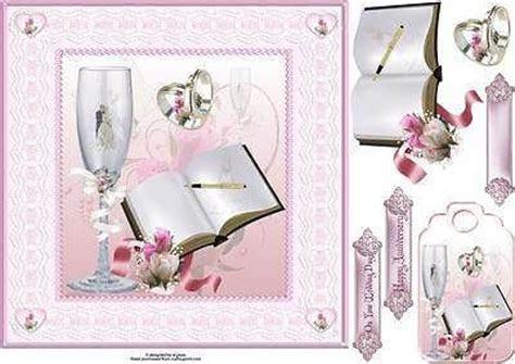Craftsuprint Wedding Anniversary Decoupage A4 Craft Sheet