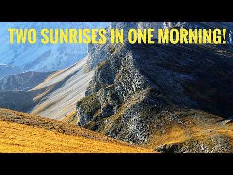 Two sunrises in one morning!