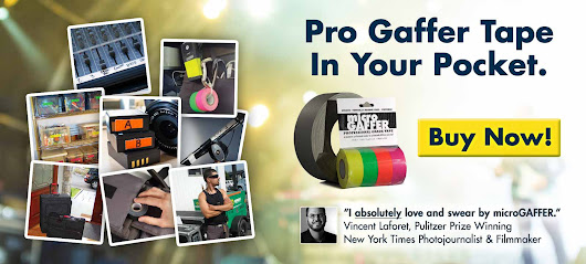 microGAFFER — Pocket-Size Mini Gaffer Tape - Buy Online! Nano Rolls Of Pro Gaff Tape You Can Keep Anywhere