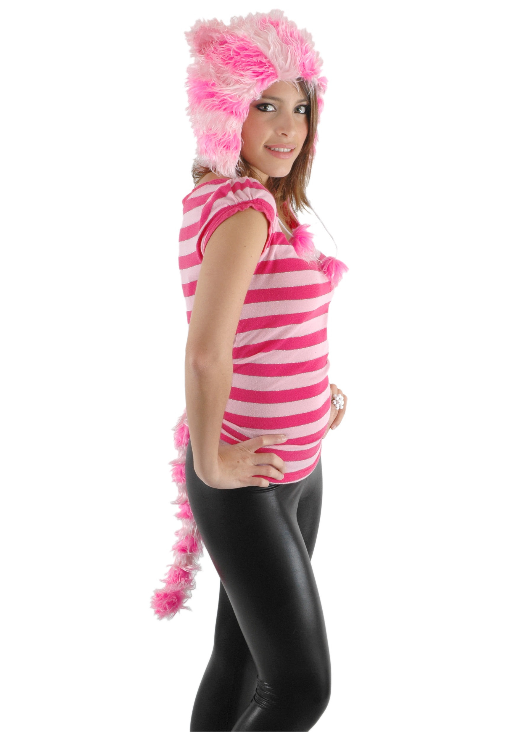 Womens Cheshire Cat Hat And Tail Halloween Costumes