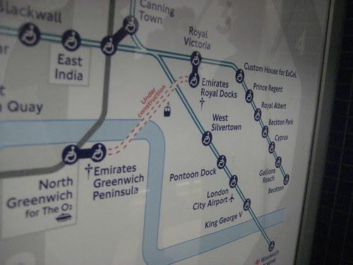 Emirates Greenwich Pennisula on Tube Map