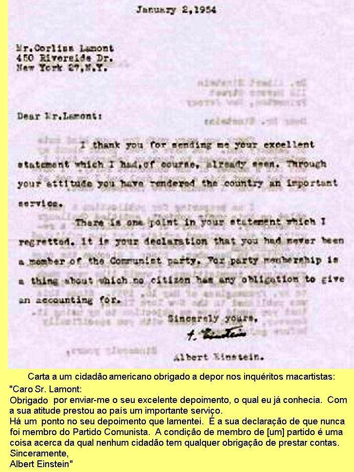 Carta a Corliss Lamont.