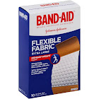 Band-Aid Flexible Fabric Extra Large Bandages - 10 count