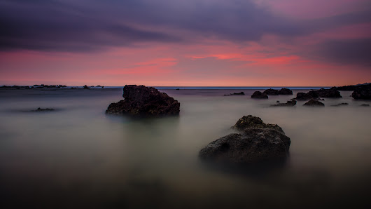 After The Sun Sets At Sawarna Beach
