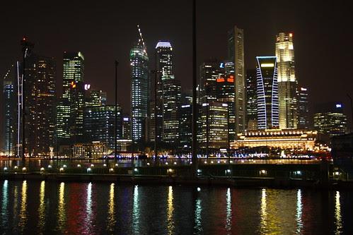 Singapore CBD Night Scene
