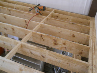 2x4 Blocks at Four Foot Spaces to Block for Plywood Sheets
