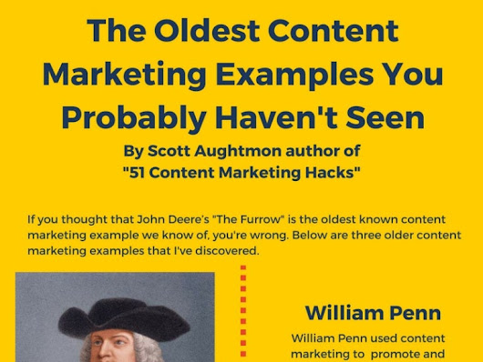 "3 of the Oldest Content Marketing Examples You""ve Never Seen (INFOGRA…"