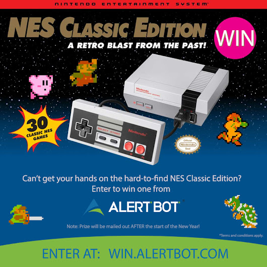 AlertBot NES Classic Edition Giveaway!