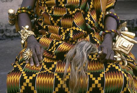 Kente or kente from Ghana, a royal cloth.