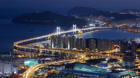 full hd wallpaper busan aerial view megapolis gwangan