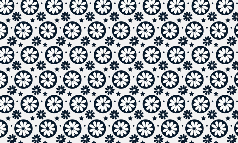 Simple Flower Designs Black And White Clipartsco