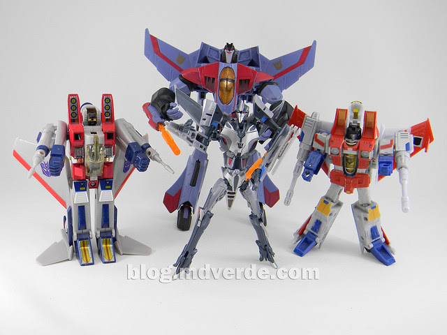 Transformers Starscream Deluxe - Prime First Edition - modo robot vs otros Starscream