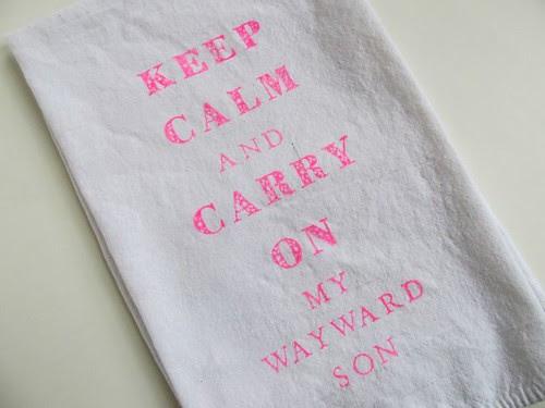Supernatural Keep Calm Tea Towel