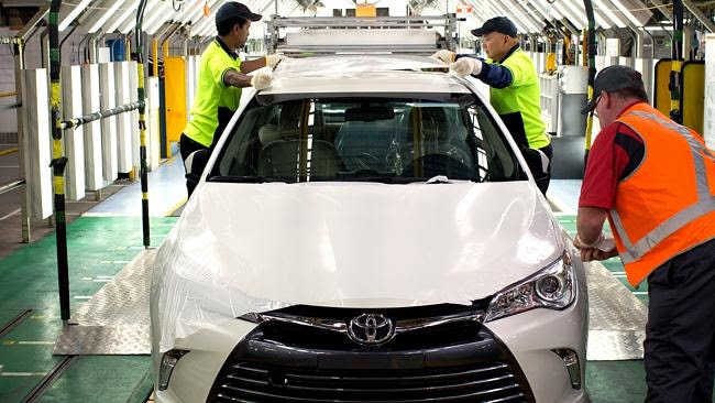 End of the line ... the new Toyota Camry gets a final inspection. Photo: Supplied.