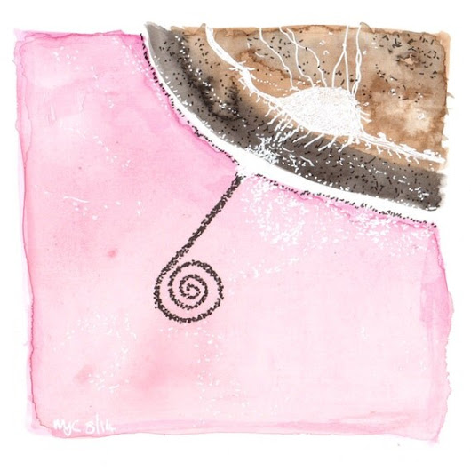 Spiral Jetty original watercolour painting by melanie j by wiccked