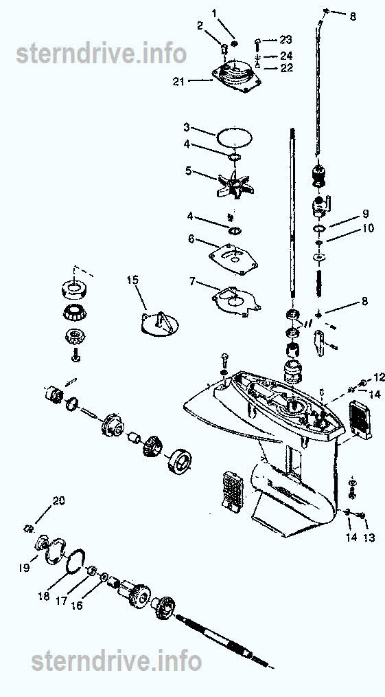Diagram Of 25 Hp Mercury Long Shaft Lower Unit Auto Wiring Diagram Today