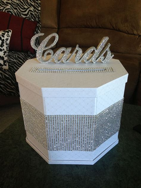 DIY blinged out gift card box   bling   Wedding gift card