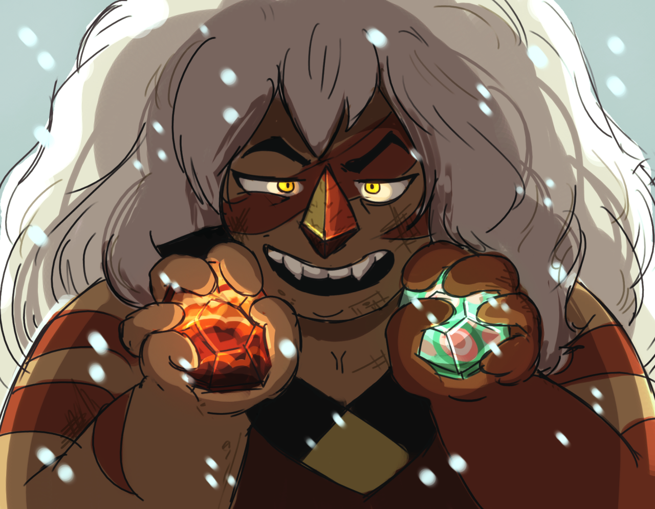 """""""Look what I got. """" i like the current trend of """"jasper appears for 3 seconds, does something completely unexpected, and ollies out with no explanation"""""""