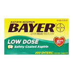 Bayer Regimen Tablets, Adult Low Strength Aspirin Pain Reliever, 81 Mg - 200 Ea