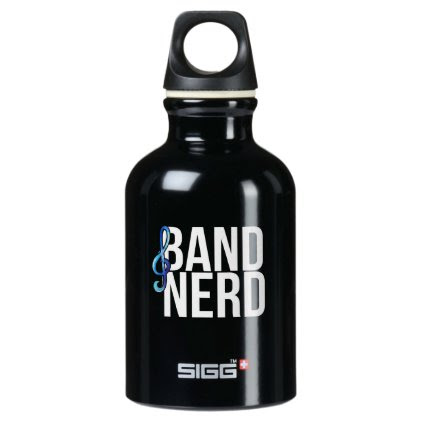 band nerd water bottle