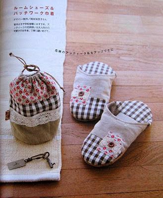 pantufa bolsa tecido costura